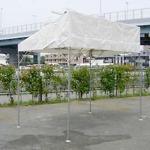 片流れ型テント(1k×2k)白
