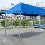 片流れ型テント(1k×2k)透明・カラー