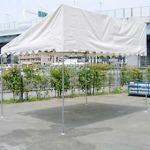 片流れ型テント(1.5k×2k)白