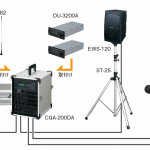 簡易音響セット(100W+100W)