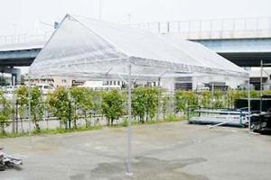 キリズマ型テント(2k×3k・4本足)白・透明